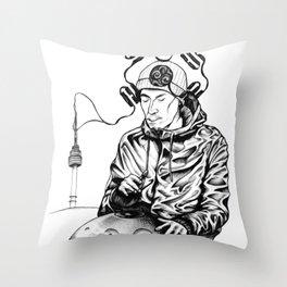 Seoul Man Throw Pillow