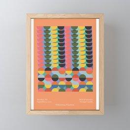 Belle & Sebastian - Teenage Fanclub gig poster Framed Mini Art Print