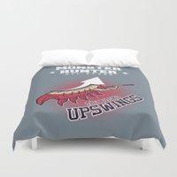 monster hunter Duvet Covers featuring Monster Hunter All Stars - The Kotoko Upswings  by Bleached ink