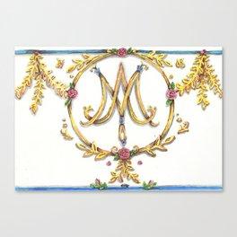 Marie Antoinette Sigil Canvas Print
