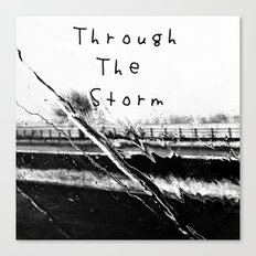 Though the storm Canvas Print