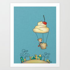 Sweet world Art Print