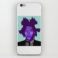 basquiat iPhone & iPod Skins featuring Basquiat by Grace Teaney Art