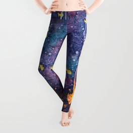 That magical night around the campfire Leggings
