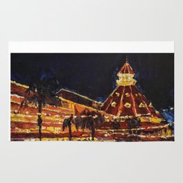 Hotel Del Coronado at Night Rug