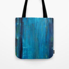 blue vertical Tote Bag
