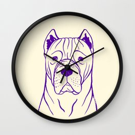 Cane Corso (Beige and Purple) Wall Clock