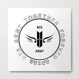 BTS ARMY Together Forever!! Metal Print