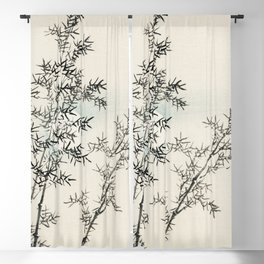 Bamboo by Kōno Bairei Blackout Curtain