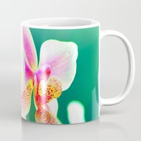 orchid Mugs featuring orchid by haroulita