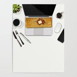 Waffle Laptop Computer Flat Lay Poster