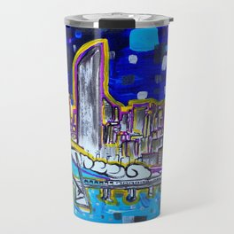 Vibrant Brisbane City Painting Travel Mug