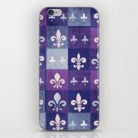 fleur de lis iPhone & iPod Skins featuring Fleur de lis #1 by Camille