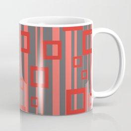 Rectangle orange Stripes grey Coffee Mug