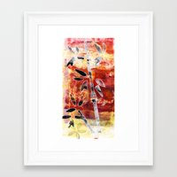 bamboo Framed Art Prints featuring bamboo by Kras Arts - Fly Me To The Moon