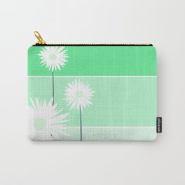 simple flowers - teal Carry-All Pouch