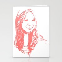 karen Stationery Cards featuring Karen Gillan by josie leigh
