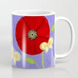 P is for Poppy Coffee Mug