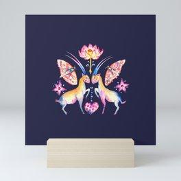 Saola with lotus Mini Art Print