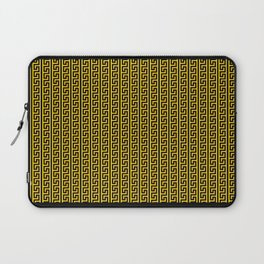Greek Key Full - Gold and Black Laptop Sleeve