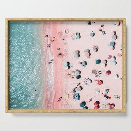 Ocean Print, Beach Print, Wall Decor, Aerial Beach Print, Beach Photography, Bondi Beach Print Serving Tray