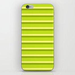 Lime Green Stripes iPhone Skin
