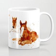 HORSE art, horse paintings, foal painting, watercolor horses, watercolour horse Mug