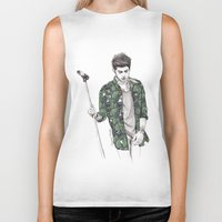 zayn Biker Tanks featuring Zayn Floral by Coconut Wishes
