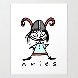 aries in the house(s)! Art Print
