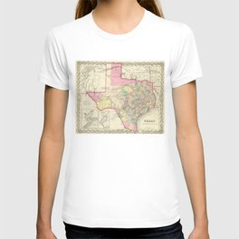 Vintage Map of Texas (1856) T-shirt