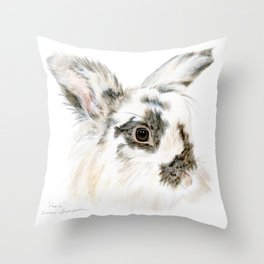 Pixie the Lionhead Rabbit by Teresa Thompson Throw Pillow
