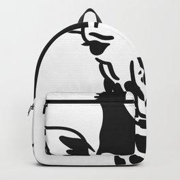 Giraffe Head Giraffe Face Backpack