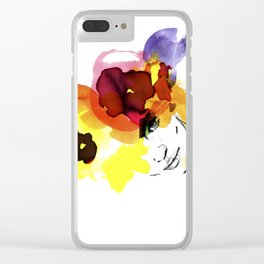 bloomy September Clear iPhone Case