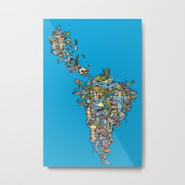 Latin America Metal Print