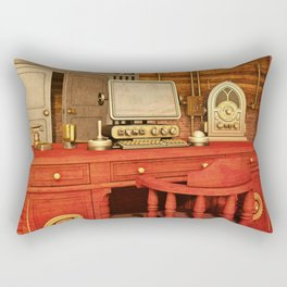 Steampunk Office Rectangular Pillow