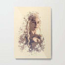 Emilia Clarke splatter painting Metal Print