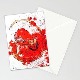 Alien chestbursting Stationery Cards