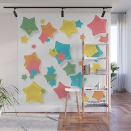 Origami Stars Wall Mural