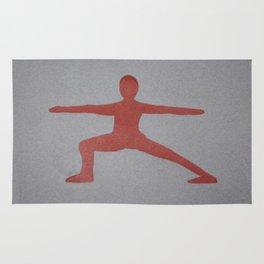 Screenprinted Yoga Art: Warrior - Wild Veda Rug
