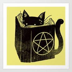 Witchcraft Cat Art Print
