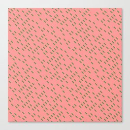 Pattern in Pink and Green Canvas Print