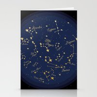 constellations Stationery Cards featuring Constellations by Cina Catteau