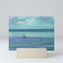 Aqua Sails Mini Art Print