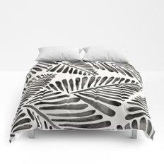 Tropical Banana Leaves – Black Palette Comforters