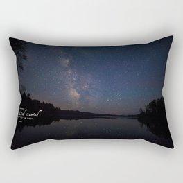 Milky Way over the Lake Rectangular Pillow