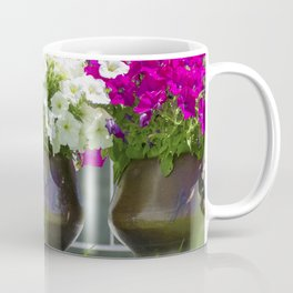 Garden of pink and white flowers Coffee Mug