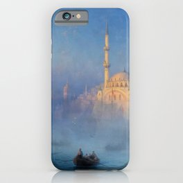 Constantinople (Istanbul) Süleymaniye Mosque in Fog by Ivan Aivazovsky iPhone Case