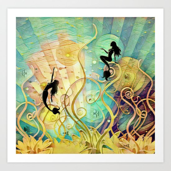 Sea Lore Art Print