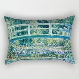 Claude Monet - Water Lilies And Japanese Bridge Rectangular Pillow