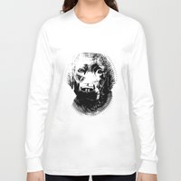 lab Long Sleeve T-shirts featuring Black Lab by Animart